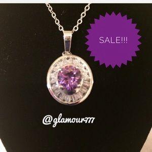 Jewelry - Necklace🔥2/$40 Simulated Amethyst & Diamond